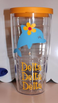 Delta Delta Delta Tervis Tumbler. $28.00, via Etsy.