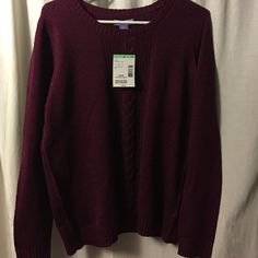 NWT maroon colored sweatshirt Maroon colored sweatshirt. Laura Scott Tops Sweatshirts & Hoodies