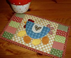 Country fabrics and a chicken.  Now that has to be a winning combination.  Check out my pattern shop via the shop button on  my blog.