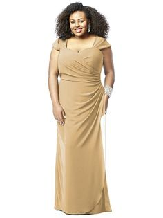 Lovelie Plus Size Bridesmaid Style 9008 http://www.dessy.com/dresses/bridesmaid/9008/?color=palomino&colorid=63#.VKGMAbALs