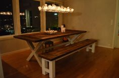 DIY Dining Table And Bench.