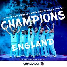 Cricket World Cup_Congratulation Post Icc Cricket, Cricket World Cup, World Cup Final, A Team, Victorious, Congratulations, Champion, England, Social Media