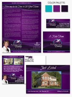 New, bright and colorful #branding for Katherine Blakely's Purple Palm #realestate business.