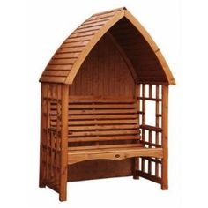 Back enclosed Arbour seat for front garden (Cottage Arbour Bench) needs to be painted Bright Yellow. Arbour Seat, Arbor Bench, Hanging Beds, Garden Arbor, Disney Sleeping Beauty, Home And Garden, Garden Cottage, Garden Seating, Wooden Garden