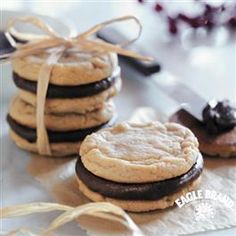 Fudge-Filled Irresistible Peanut Butter Cookies recipe from Eagle Brand® Sweetened Condensed Milk