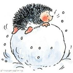 The premier source for Penny Black product purchases. Christmas Rock, Christmas Crafts, Hedgehog Illustration, Ball Drawing, Hedgehog Art, Penny Black Stamps, Chicken Art, Letter Art, Whimsical Art