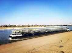 Endless boat ... #dusseldorf #düsseldorf #boat #ship #transport #travel #business #ride #sail #sailing #infinite #river #rhine #rhein #rhinepromenade #rheinpromenade