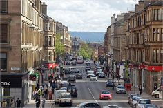 View of Glasgow's Byres Road, the heart of the West End