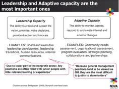 Leadership Capacity The ability to create and sustain the vision, prioritize, make decisions, provide direction and innova... Capacity Building, Prioritize, Sustainability, Leadership, Investing, Create, Projects, Log Projects, Blue Prints