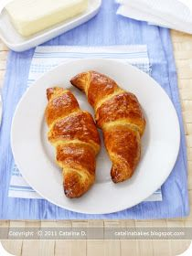 Catalina Bakes: The Daring Bakers' Challenge: Croissants au Beurre (Butter Croissants)