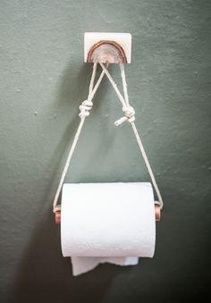 15+ DIY Und Preiswerte Toilettenpapierhalter Ideen