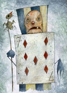 Stefano Bessoni, Alice Underground Go Ask Alice, Painting The Roses Red, Through The Looking Glass, Stop Motion, Alice In Wonderland, Illustrators, Whimsical, Illustration Art, Watercolor