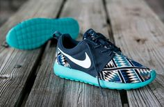 Nike Roshe Run Customs Tribal blue.  can SOMEONE just find these for me online...