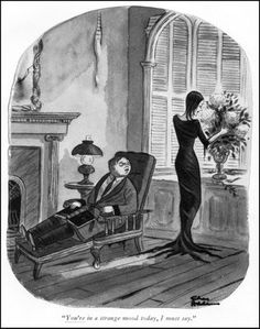 Charles Addams - The Addams Family Scary Art, Creepy, Frankenstein, Los Addams, Addams Family Cartoon, Addams Family House, Cartoon Familie, Charles Addams, Morticia Addams