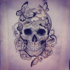 Idea for Salem Tattoo, change it a little to make it more my own and have different flowers.