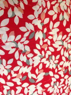 Tissu imprimé feuillage 100% cotton