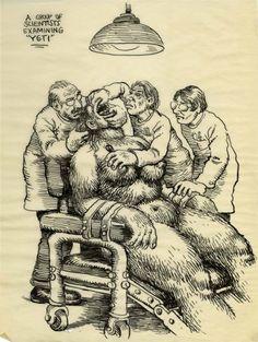 Robert Crumb Women | Robert Crumb Unpublished Whiteman Meets Bigfoot Illustr