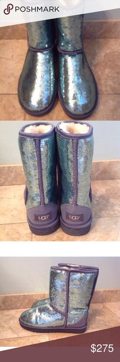 NEW Mermaid Sparkle Ugg Boots RARE New without box, rare mermaid sparkle boots, no flaws. Snow Boots, Winter Boots, Bootie Boots, Ankle Boots, Ugg Boots Sale, Uggs For Cheap, Ugg Boots Australia, Ugg Shoes, Mermaid