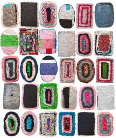 Sri Lankan floor mats – reused textile candy Why not have some fun on the floor? Textile Fiber Art, Home Textile, Fibre Art, Good Day Sunshine, Patchwork Pillow, Textiles, Tiles Texture, Seat Pads, Floor Decor