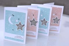 Les jours deviennent plus clairs! Baby Shower Cards, Baby Cards, Kids Cards, Scrapbooking Layouts, Scrapbook Cards, Diy Crafts Step By Step, Karten Diy, Star Flower, Stamping Up Cards