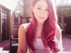ariana grande red hair