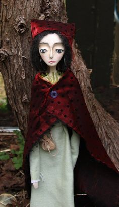OOAK Doll Art Doll Paper Clay Doll by Gina Cuff of gcuff on Etsy