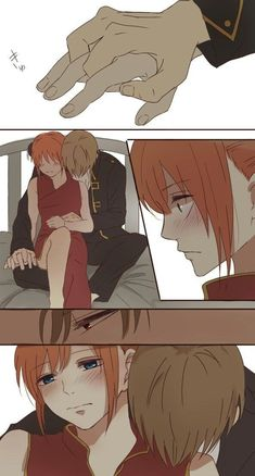 Okikagu (Okita x Kagura), Gintama Comics kiss Couple Amour Anime, Couple Anime Manga, Anime Couples Drawings, Anime Love Couple, Anime Couples Manga, Manga Anime, Anime Guys, Anime Comics, Comic Anime