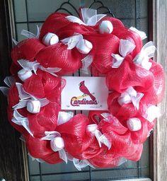 cardinal baseball wreath | St. Louis Cardinals Wreath by BCCbyBecca on Etsy