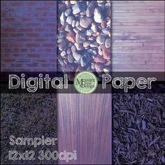 A Digital Purple Pack Paper Freebie {Messare Clips and Design}