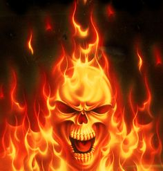 Skull Fire - Manipulation by CanuckZD on deviantART Fire Manipulation, Airbrush Skull, Skull Fire, Skull Coloring Pages, Flame Art, Skull Pictures, Skull Artwork, Skull Drawings, Skull Wallpaper