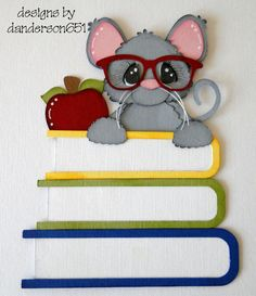Mouse with Books Paper Piecing by debanderson651 on Etsy
