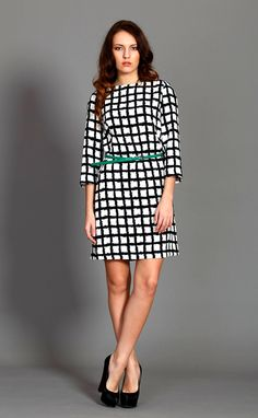 Chic and elegant short checked dresses – a unique product by CultOfDress via en.DaWanda.com