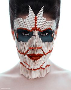 photo by babakfatholahimua - eli monfared Club Kids, Masks Art, Weird And Wonderful, Creative Makeup, Art Plastique, Headgear, Face Art, Mask Design, Makeup Art