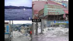 気仙沼市内3地点における同時刻津波映像 東日本大震災