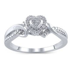 Hold My Hand Carat T. Sterling Silver Diamond Rings, Sterling Jewelry, Silver Diamonds, Silver Ring, Heart Promise Rings, Diamond Promise Rings, Heart Rings, Dream Engagement Rings, Heart Shaped Diamond