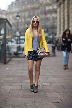 hi Bea nice jacket nice top nice dotty shorts. nice outfits