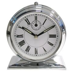 Threshold™ Shiny Retro Alarm Clock - Silvertone
