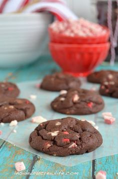 Peppermint Mocha Pudding Cookies - the best fudge pudding cookies you will ever eat  www.insidebrucrewlife.com