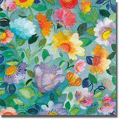 Turqoise Textile Garden by Kim Parker Premium Gallery-Wrapped Canvas Giclee Art (Ready to Hang) Artistic Home Gallery http://www.amazon.com/dp/B00LSCCQIS/ref=cm_sw_r_pi_dp_10z8ub0M0STXQ