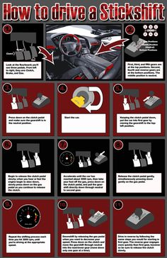 How to drive stickshift