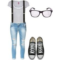 White glasses and pink shoes