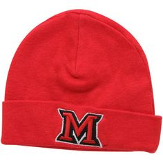 new concept eb5f1 9a635 Top of the World Miami University RedHawks Infant Red Team Cuffed Knit  Beanie