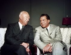Image detail for -President Dwight D. Eisenhower seated with Vice President Richard ...