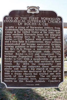Wisconsin Historical Markers: Marker 390: Site of the First Norwegian Evangelica...