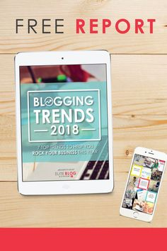If you want to blog as a business, this eBook with the blogging trends for 2018 is worth your time to read. When I read it I felt like I got a free course! #affiliate #blog #blogging