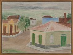 Casario de Itanhaem. Década de 1940. Alfredo Volpi (1896-1988). Pintor ítalo-brasileiro.
