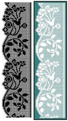 Diy Crafts - Easiest Crochet Frills Border Ever! Crochet Stitches Chart, Crochet Edging Patterns, Filet Crochet Charts, Crochet Borders, Crochet Diagram, Knitting Patterns, Filet Pattern Crochet, Crochet Curtains, Crochet Doilies