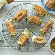 Fancy making Jane's pistachio and white chocolate churros? Here's the recipe from The Great British Bake Off!