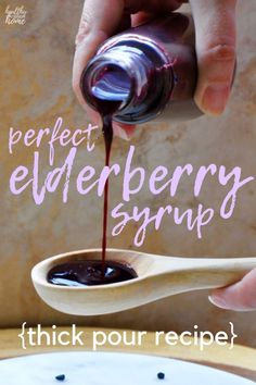 Cold Remedies THICK elderberry syrup a perfect immune-boosting remedy for cold flu season. Most recipes are too thin, but arrowroot powder provides a real syrup consistency! It's the immune boosting recipe you love in an easy to pour formula! Natural Home Remedies, Natural Healing, Herbal Remedies, Health Remedies, Natural Oil, Holistic Healing, Natural Beauty, Natural Sleep, Flu Remedies