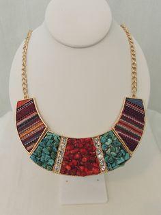 California Dreamin Multi-Stone Cuff Necklace